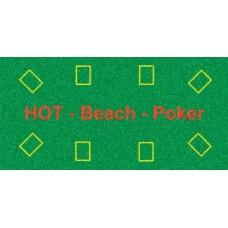 Poker Beach Towel green 140x70 cm