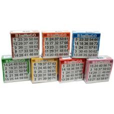 Bingokaarten pak 500 stuks 7 kleuren ass.
