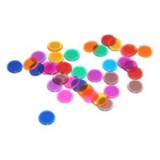 Bingo chips transp.color.14mm.p.300 in bag