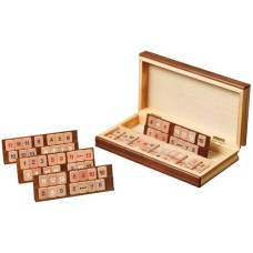 Rummy game Book wood with racks 30x15cm