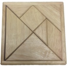 Tangram Rubberwood blank 12cm.+208 V.HOT