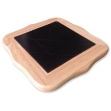Tangram SolidWood blank,stenen zwa.22cm.
