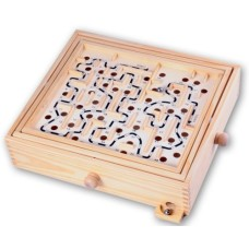 Labyrinth hout groot 32x28x8 cm fotodoos