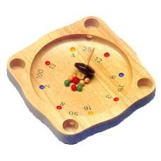 Tiroler roulette rubberwood w.spinner/balls