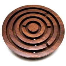 Geduld-kogel-spel rond palisand.hout 12,5 cm.