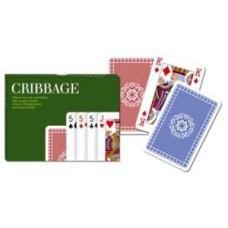 Cribbagebord met kaarten Piatnik kadoset