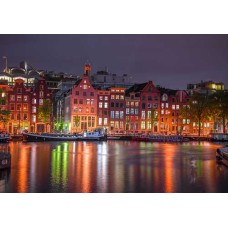 Wooden puzzle Amsterdam by night L 300
