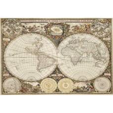 Wooden puzzle Antique world map L 300