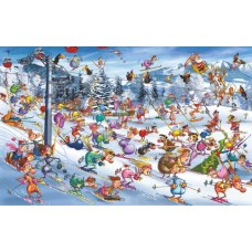 Puzzle Skiing,F.Ruyer,Comic 1000 pc.Piatnik