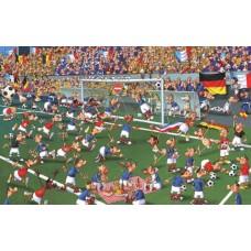 Puzzel Voetbal,F.Ruyer,Comic 1000st.Piatnik