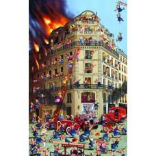 Puzzle Fire Brigade,Ruyer,Comic 1000 Piatnik