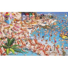 Puzzle,Beach,F.Ruyer,1000 Comic Piatnik