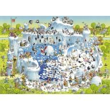Puzzel Polar Habitat,Comic 1000 Heye 29692
