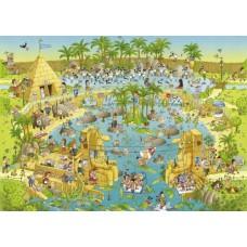 Puzzle Nile Habitat,Comic 1000 Heye 29693