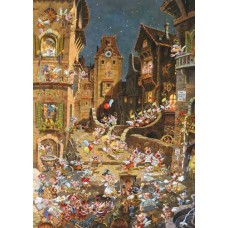 Puzzel Romantic Town N.1000 Heye 29875