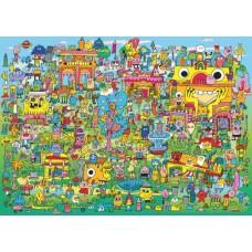 Puzzle.Doodle Village 1000 Heye 29936 NEW