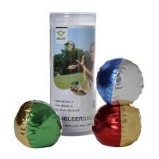 Juggling balls set Metallic large, 3 pcs