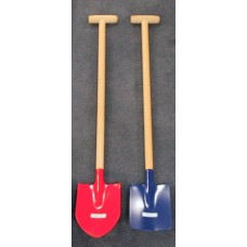 Shovel wooden handle / metal flat 70 cm.
