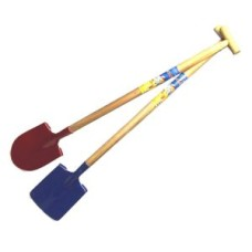 Shovel wooden handle / metal flat 90 cm.